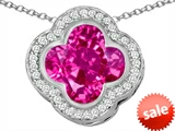 Original Star K™ Large Clover Pendant with 12mm Clover Cut Created Pink Sapphire style: 306762