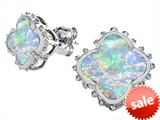Original Star K™ Clover Earring Studs with 8mm Clover Cut Created Opal