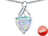 Original Star K™ 8mm Heart Shape Created Opal Ribbon Pendant style: 306806