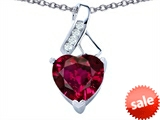 Original Star K™ 8mm Heart Shape Created Ruby Ribbon Pendant style: 306808