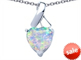 Original Star K™ 8mm Heart Shape Created Opal Ribbon Pendant