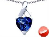 Original Star K™ 8mm Heart Shape Created Sapphire Ribbon Pendant style: 306817
