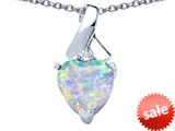 Original Star K™ 8mm Heart Shape Created Opal Ribbon Pendant style: 306822