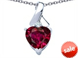 Original Star K™ 8mm Heart Shape Created Ruby Ribbon Pendant