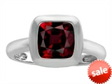 Original Star K™ 8mm Cushion Cut Solitaire Engagement Ring With Genuine Garnet style: 306861