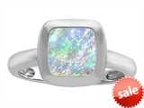 Original Star K™ 8mm Cushion Cut Solitaire Engagement Ring With Created Opal