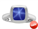 Original Star K™ 8mm Cushion Cut Solitaire Engagement Ring With Created Star Sapphire style: 306864