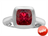 Original Star K™ 8mm Cushion Cut Solitaire Engagement Ring With Created Ruby style: 306866