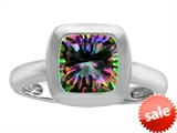 Original Star K™ 8mm Cushion Cut Solitaire Engagement Ring With Mystic Topaz