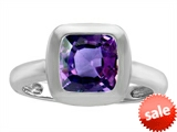 Original Star K™ 8mm Cushion Cut Solitaire Engagement Ring With Simulated Alexandrite