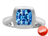 Original Star K™ 8mm Cushion Cut Solitaire Engagement Ring With Genuine Blue Topaz