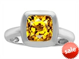 Original Star K™ 8mm Cushion Cut Solitaire Engagement Ring With Genuine Citrine