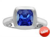 Original Star K™ 8mm Cushion Cut Solitaire Engagement Ring With Created Sapphire style: 306872