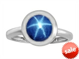Original Star K™ 8mm Round Solitaire Engagement Ring With Created Star Sapphire