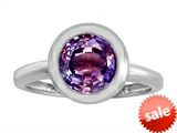 Original Star K™ 8mm Round Solitaire Engagement Ring With Simulated Alexandrite style: 306875
