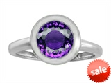 Original Star K™ 8mm Round Solitaire Engagement Ring With Genuine Amethyst