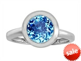 Original Star K™ 8mm Round Solitaire Engagement Ring With Genuine Blue Topaz