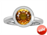 Original Star K™ 8mm Round Solitaire Engagement Ring With Genuine Citrine