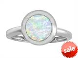 Original Star K™ 8mm Round Solitaire Engagement Ring With Created Opal