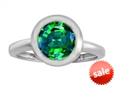 Original Star K™ 8mm Round Solitaire Engagement Ring With Simulated Emerald style: 306881