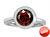 Original Star K™ 8mm Round Solitaire Engagement Ring With Genuine Garnet style: 306882