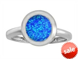 Original Star K™ 8mm Round Solitaire Engagement Ring With Created Blue Opal