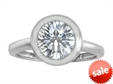 Original Star K™ 8mm Round Solitaire Engagement Ring With Genuine White Topaz style: 306885
