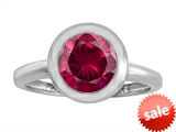 Original Star K™ 8mm Round Solitaire Engagement Ring With Created Ruby