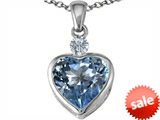 Original Star K™ 10mm Heart Shape Simulated Aquamarine Heart Pendant style: 306924