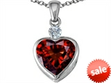 Original Star K™ 10mm Heart Shape Simulated Garnet Heart Pendant style: 306930