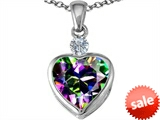 Original Star K™ 10mm Heart Shape Mystic Topaz Heart Pendant style: 306931