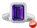 Original Star K™ 9x7mm Emerald Cut Octagon Solitaire Engagement Ring With Genuine Amethyst style: 306958