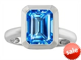 Original Star K™ 9x7mm Emerald Cut Octagon Solitaire Engagement Ring With Genuine Blue Topaz style: 306960