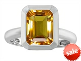 Original Star K™ 9x7mm Emerald Cut Octagon Solitaire Engagement Ring With Genuine Citrine