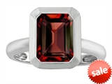Original Star K™ 9x7mm Emerald Cut Octagon Solitaire Engagement Ring With Genuine Garnet style: 306963