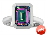Original Star K™ 9x7mm Emerald Cut Octagon Solitaire Engagement Ring With Mystic Topaz