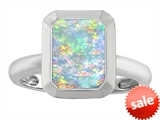 Original Star K™ 9x7mm Emerald Cut Octagon Solitaire Engagement Ring With Created Opal style: 306966