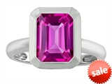 Original Star K™ 9x7mm Emerald Cut Octagon Solitaire Engagement Ring With Created Pink Sapphire