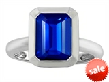 Original Star K™ 9x7mm Emerald Cut Octagon Solitaire Engagement Ring With Created Sapphire