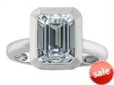 Original Star K™ 9x7mm Emerald Cut Octagon Solitaire Engagement Ring With Genuine White Topaz style: 306970
