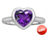 Original Star K™ 8mm Heart Shape Solitaire Engagement Ring With Genuine Amethyst
