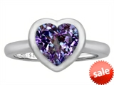 Original Star K™ 8mm Heart Shape Solitaire Engagement Ring With Simulated Alexandrite style: 306972