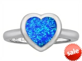 Original Star K™ 8mm Heart Shape Solitaire Engagement Ring With Created Blue Opal style: 306974