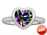Original Star K™ 8mm Heart Shape Solitaire Engagement Ring With Mystic Topaz
