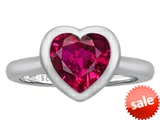 Original Star K™ 8mm Heart Shape Solitaire Engagement Ring With Created Ruby