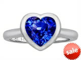 Original Star K™ 8mm Heart Shape Solitaire Engagement Ring With Created Sapphire