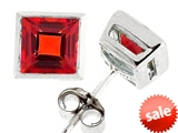 Tommaso Design™ Square Cut Genuine Garnet Earrings style: 307010