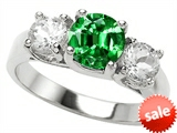 Original Star K™ 7mm Round Simulated Emerald Engagement Ring style: 307012