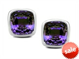 Original Star K™ 7mm Cushion Cut Simulated Alexandrite Earring Studs