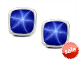 Original Star K™ 7mm Cushion Cut Created Star Sapphire Earrings Studs style: 307046